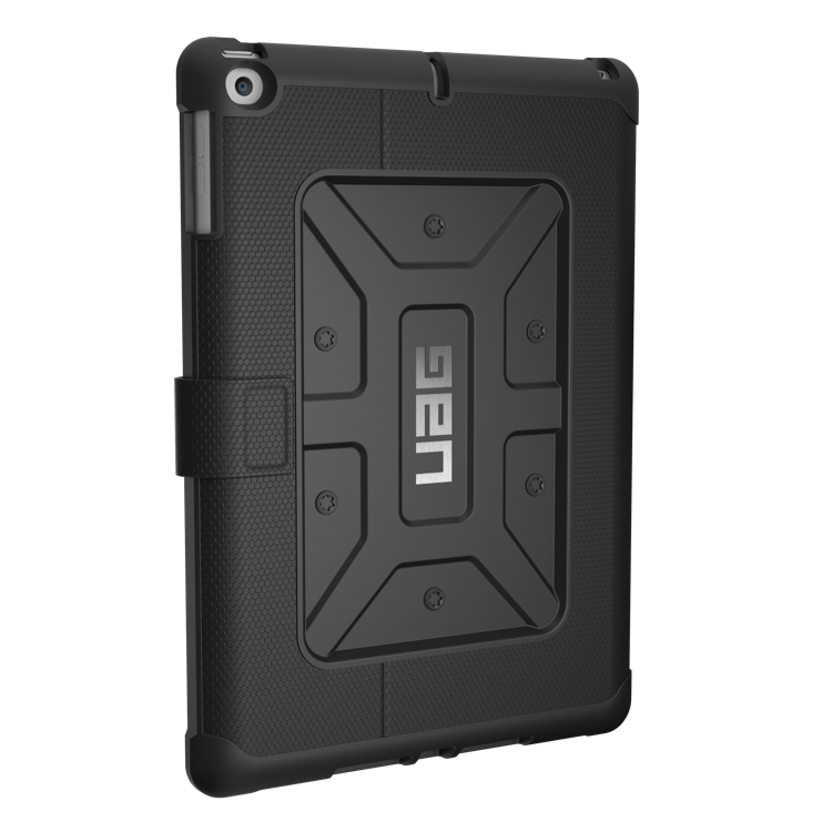 "UAG Metropolis Folio Case for iPad 9.7"" - Black, U-IPD17-E-BK"
