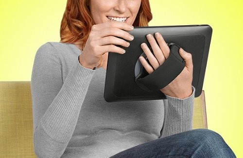 LapWorks Soft Grip iPad Air Handle exclusively for the iPad Air with an adjustable neoprene handle and 360 degree swiveling motion, B00GM00TJ4