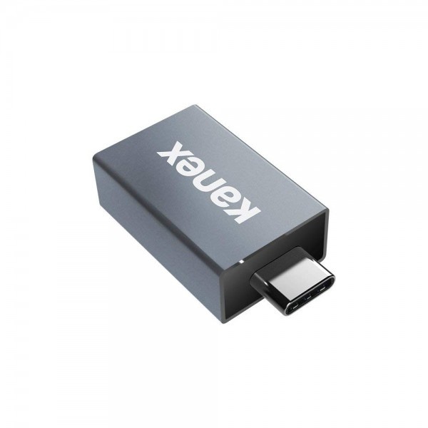 Kanex USB Type-C Male to USB Type-A Female Mini Adapter - Space Gray, K181-1170-SG