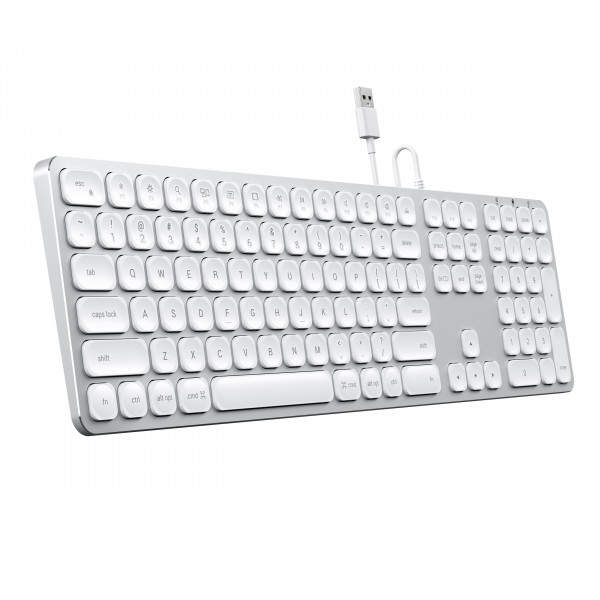 Satechi Wired Keyboard for MacOS - Silver, ST-AMWKS