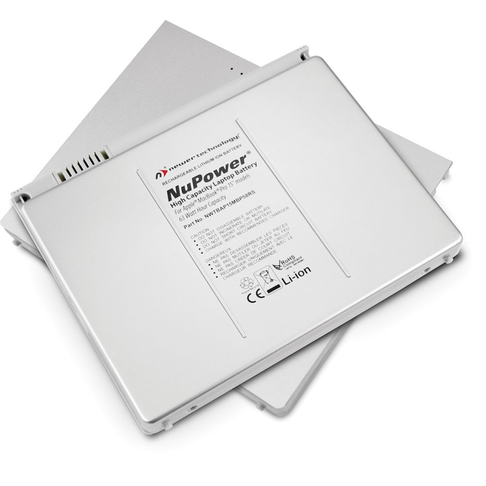 """NewerTech NuPower 60 Watt-Hour Replacement Battery for MacBook Pro 15"""" non-Unibody (2006 - 2008), NWTBAP15MBP56RS"""