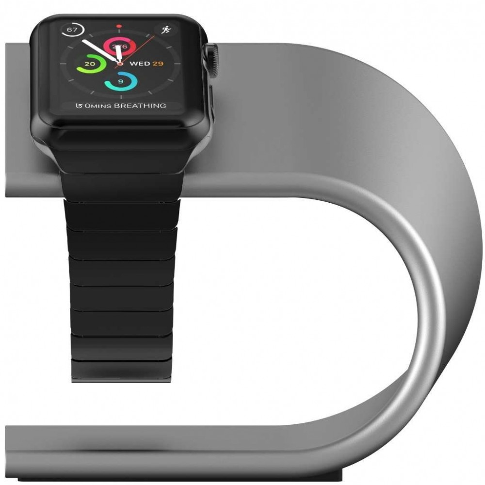 **DISCONTINUED** Nomad Stand for Apple Watch - Silver, STAND-APPLE-S