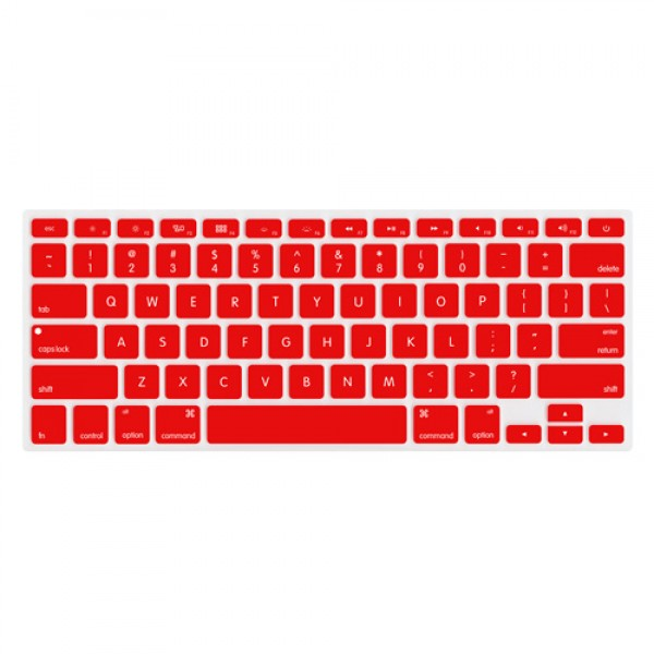 "NewerTech NuGuard Keyboard Cover for 2011-15 MacBook Air 13"", All MacBook Pro Retina - Red, NWTNUGKBMBRR"