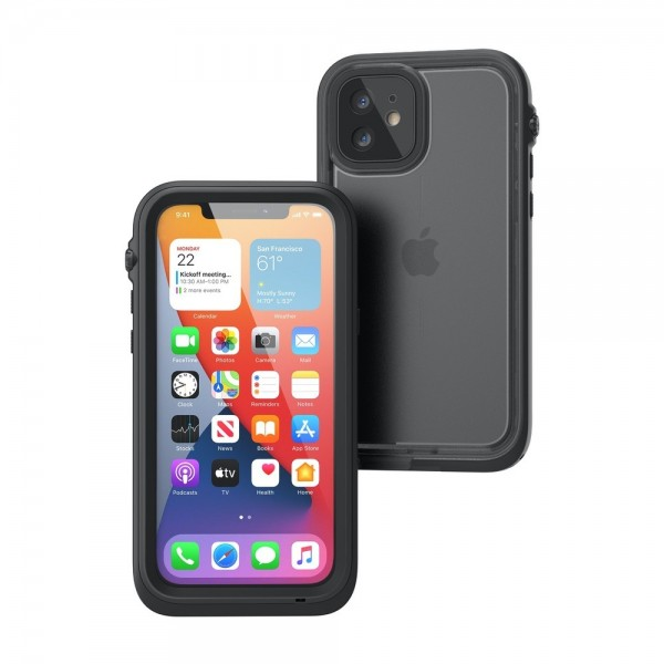 Catalyst Total Protection Case for iPhone 12 - Black, CATIPHO12BLKM
