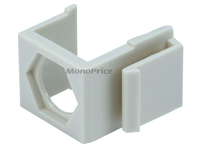 Blank Insert for F type connector - 10pcs/Pack (Ivory), INS-6560