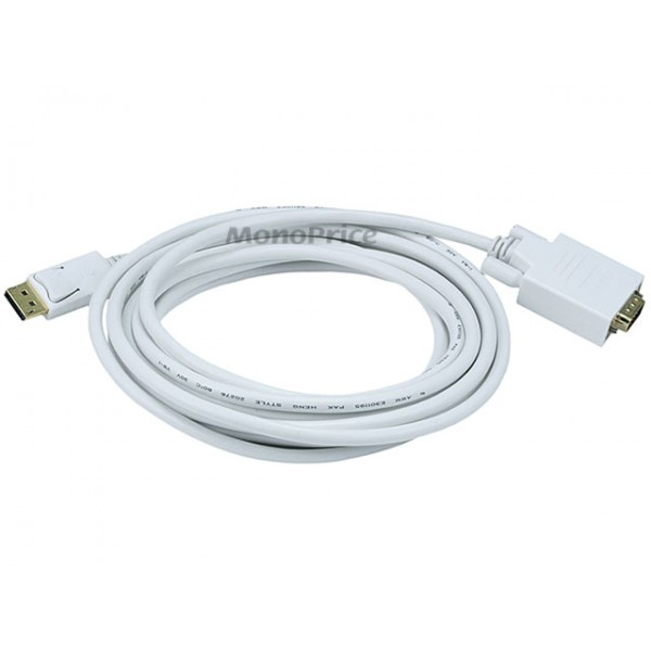 4.5m 28AWG DisplayPort to VGA Cable - White, DP-VGA-6021