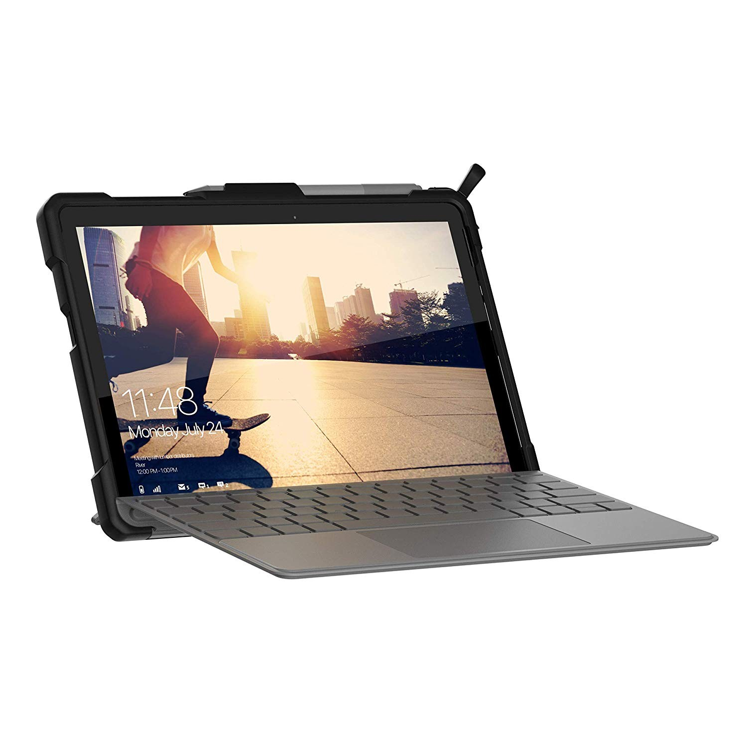 UAG Microsoft Surface Go Feather-Light Rugged Aluminum Stand Military Drop Tested Case - Cobalt, 321076115050