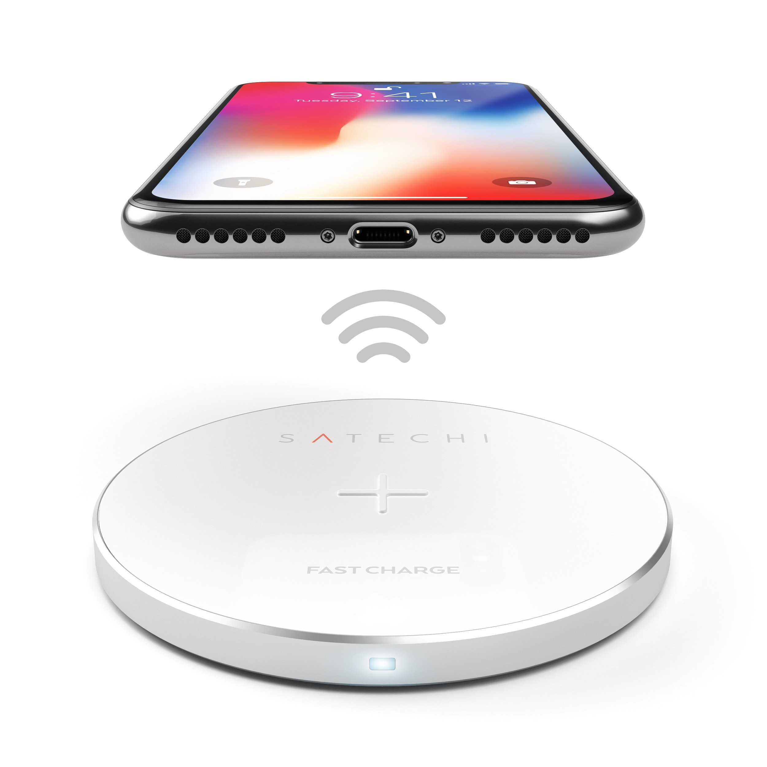 Satechi Fast Wireless Charger - Silver, ST-WCPS