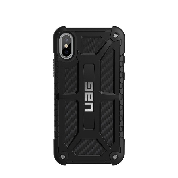 Urban Armor Gear iPhone Xs/X Monarch Feather-Light Rugged Military Drop Tested iPhone Case - Carbon Fiber, IPHX-M-X