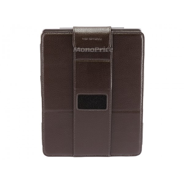 Synthetic Leather Vertical Stand Case for iPad 2/3/4 - Brown, *IPD3-8461