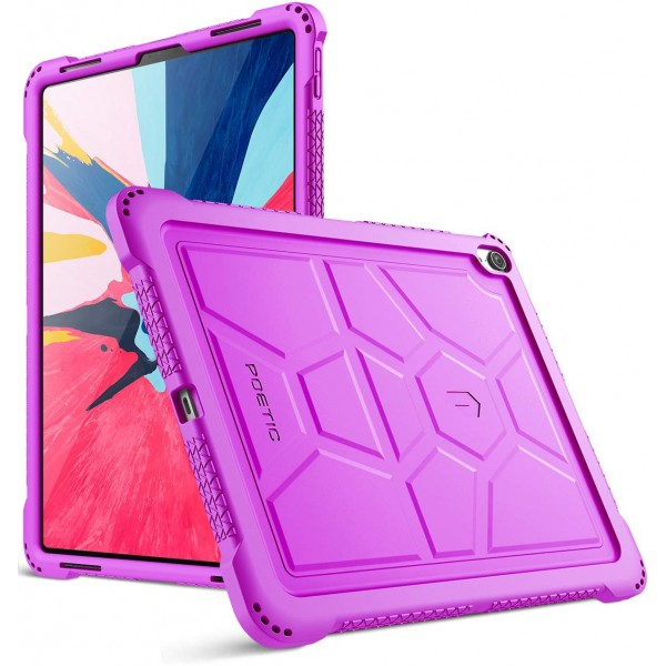 Poetic TurtleSkin Series Protective Silicone Case for Apple iPad Pro 12.9 Inch (2018) [Not Supported Apple Pencil Magnetic Attachment]  - Purple, TurtleSkin-iPad-Pro-12.9-2018-Purple