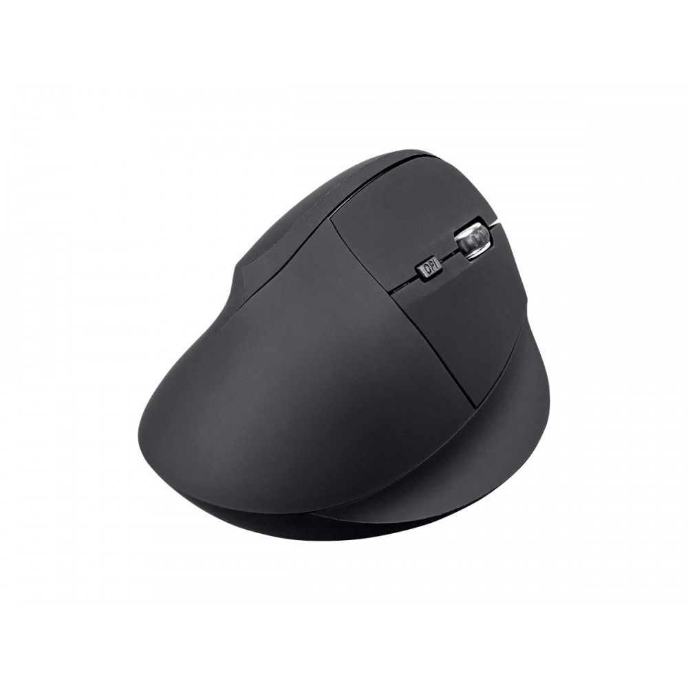 Workstream by Monoprice Wireless Ergonomic Optical Mouse, Soft Touch - Black, 24174