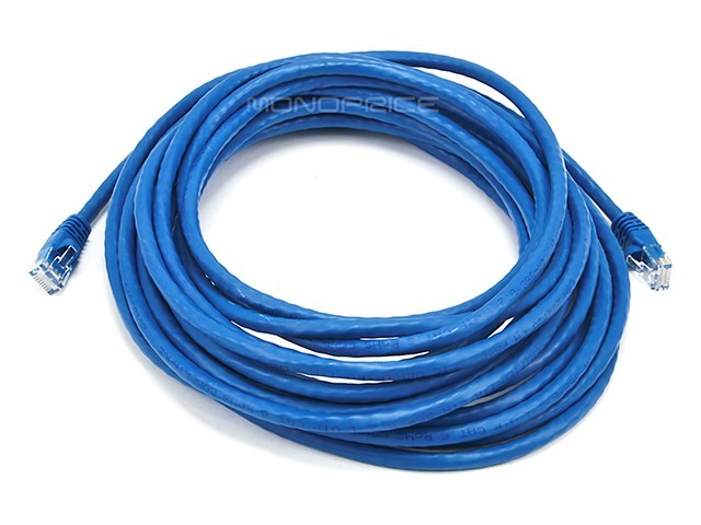7.6m 24AWG Cat6 550MHz UTP Ethernet Bare Copper Network Cable - Blue, ETH-2117