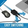 Sabrent USB 3.0 Sharing Switch for Multiple Computers and Peripherals LED Device Indicators, SAUSBSW30