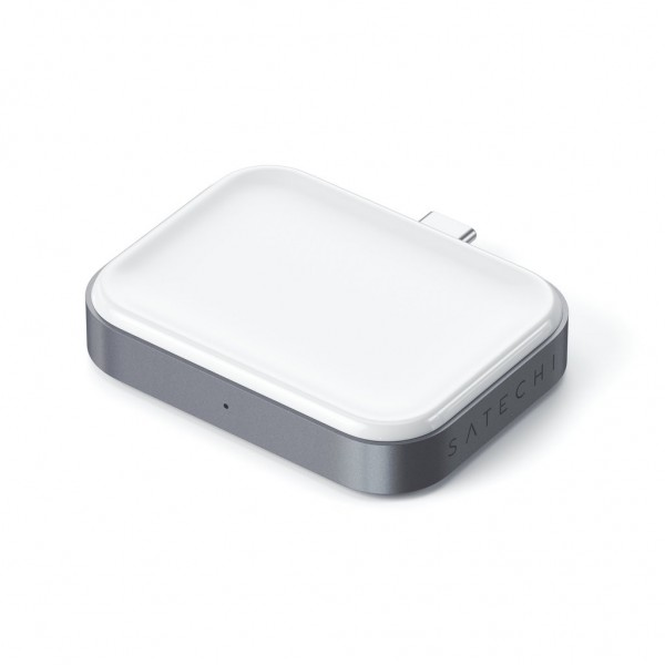 Satechi USB-C Wireless Charging Dock for AirPods - Space Grey, ST-TCWCDM