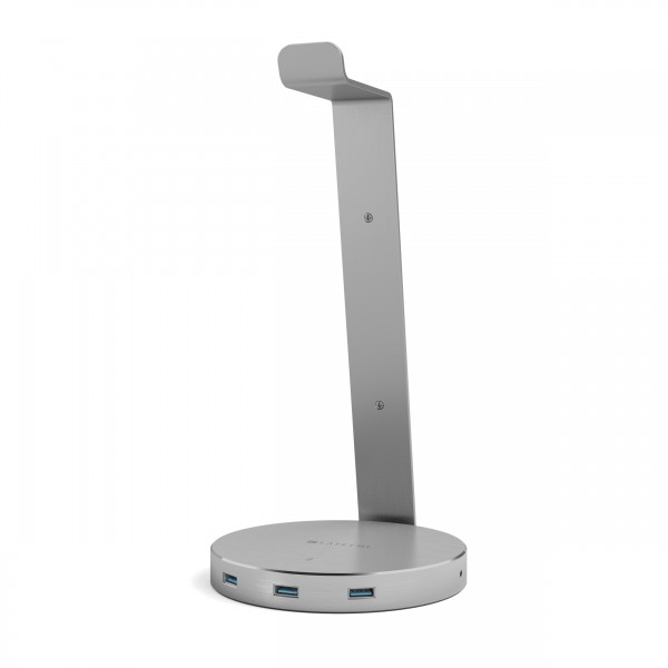Satechi Aluminum USB 3.0 Headphone Stand - Space Gray, ST-AHSHU3M
