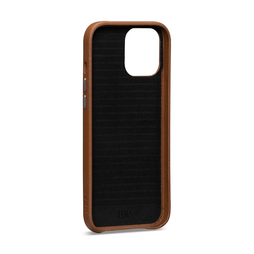Sena - Snap On Wallet Case for iPhone 12 Pro Max - Brown, SFD49006NPUS-50