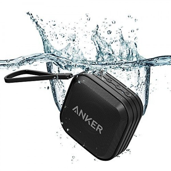 Anker SoundCore Sport (IPX7 Waterproof/Dustproof Rating, 10-Hour Playtime) Outdoor Portable Bluetooth Speaker with Enhanced Bass and Built-In Microphone, AK-A3182011