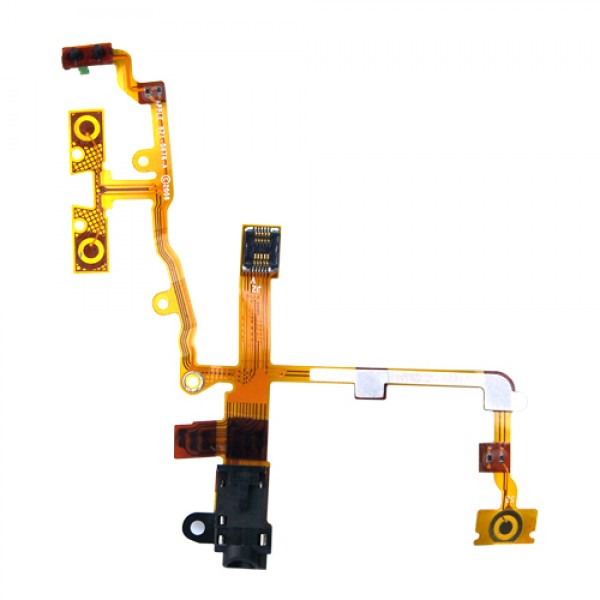 Replacement Earphone Jack Power Volume Switch Flex Cable For Apple iPhone 3G - Black