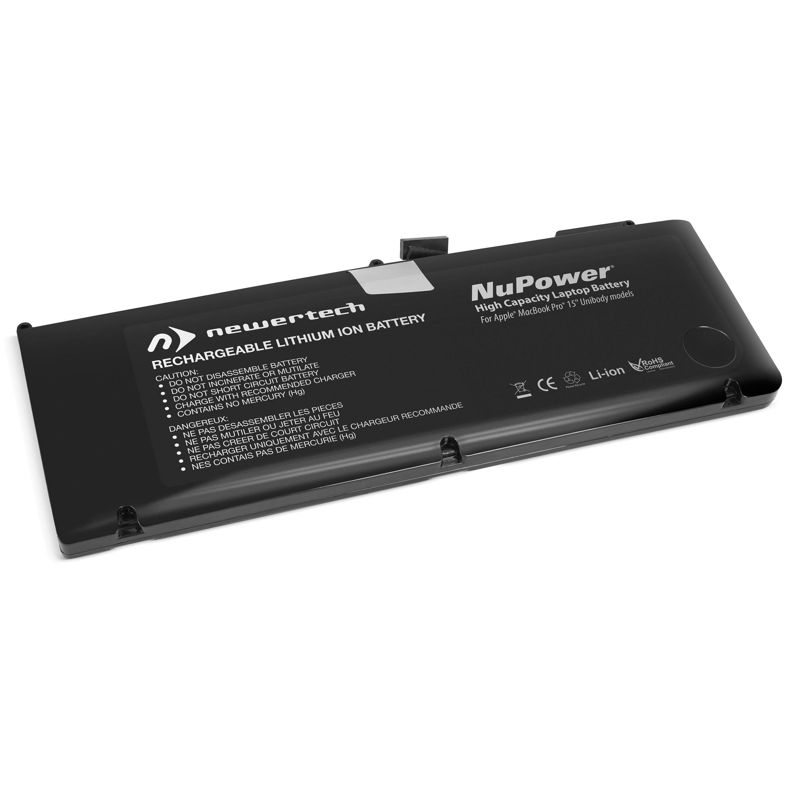 NewerTech NuPower 85 Watt-Hour Battery for MacBook Pro 15-inch Unibody Mid-2009 and Mid-2010 Models, NWTBAP15MBU85N