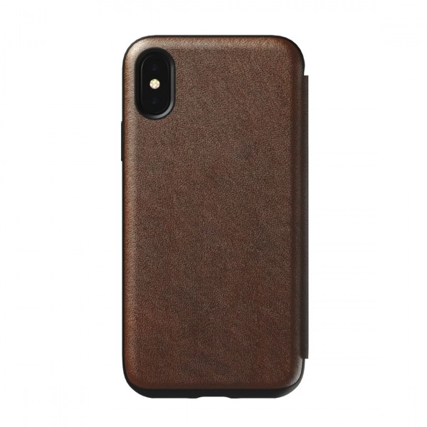 **OPEN BOX** Nomad Horween Leather Rugged Folio for iPhone XS / X - Rustic Brown, OB-NM21FR0H00