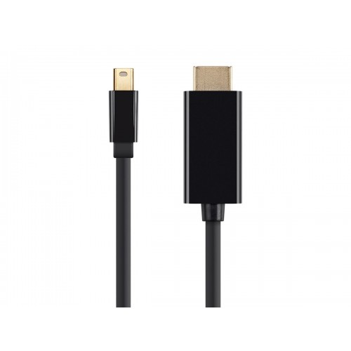 Monoprice Mini DisplayPort 1.2 / Thunderbolt to HDMI (HDTV) Cable w/ Audio Support - 1 metre