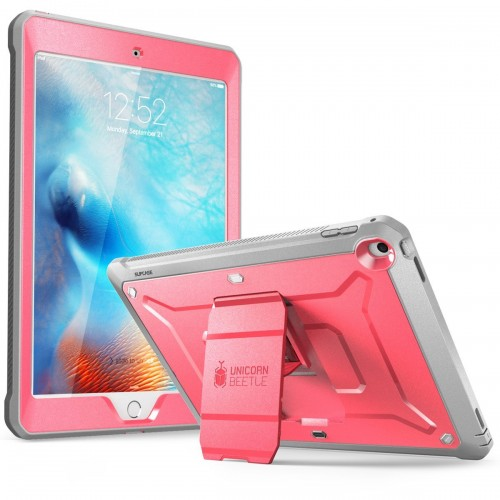 Supcase Unicorn Beetle Pro Full Body Rugged Protective Case for iPad 9.7 (2017) - Pink/Gray
