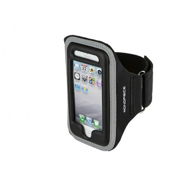 Neoprene Sports Armband for iPhone 5/5s/5c - SM/MED - Black, ARM-P5-9905