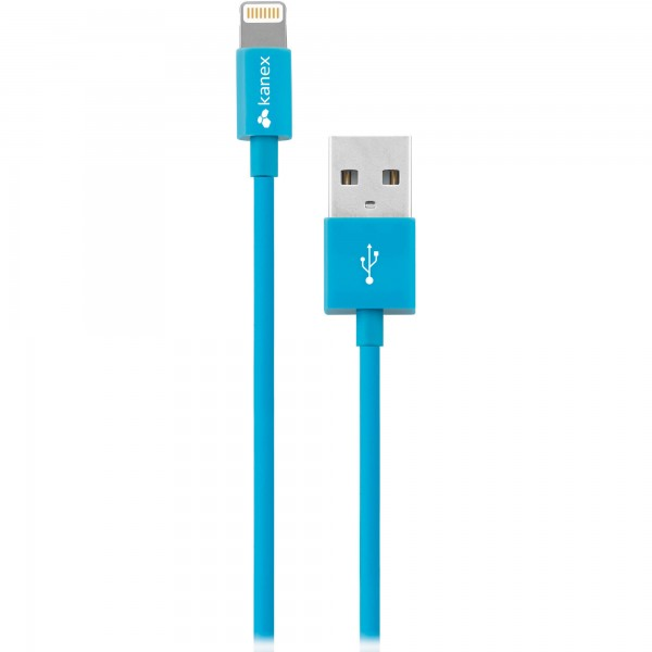 Kanex Charge and Sync Cable with Lightning Connector 1.2 m - Blue, K8PIN4FBL