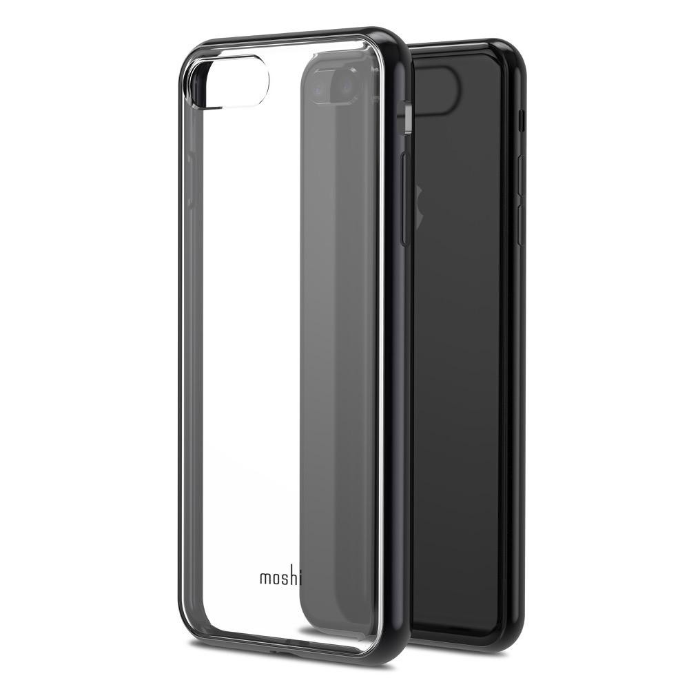 Moshi Vitros for iPhone 8 Plus/iPhone 7 Plus - Clear Protective Case - Raven Black, 99MO103033