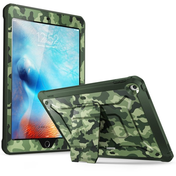 Supcase Unicorn Beetle PRO Series Full-body Rugged Protective Case with Built-in Screen Protector & Dual Layer Design for iPad 9.7 inch 2017 / 2018 - Camo, B07D3LBWB7