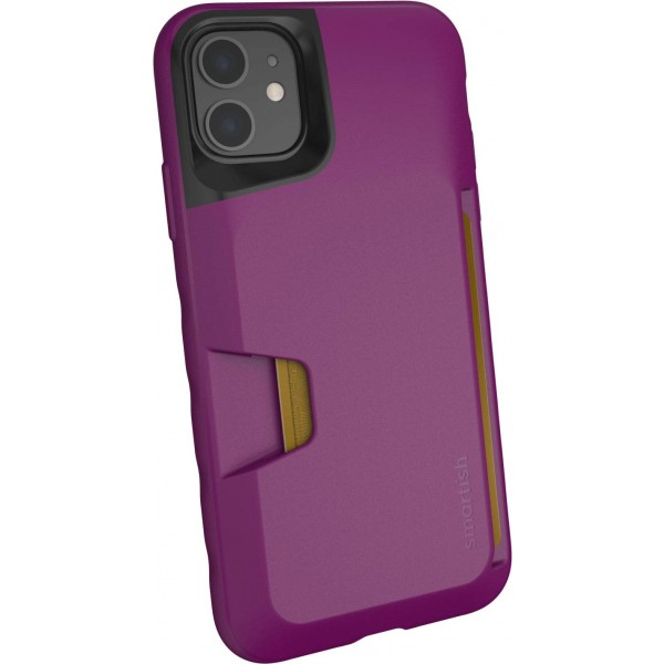 Smartish iPhone 11 Wallet Case - Credit Card Holder (Silk) - Purple Reign, SLK-VT19M-VIOLET