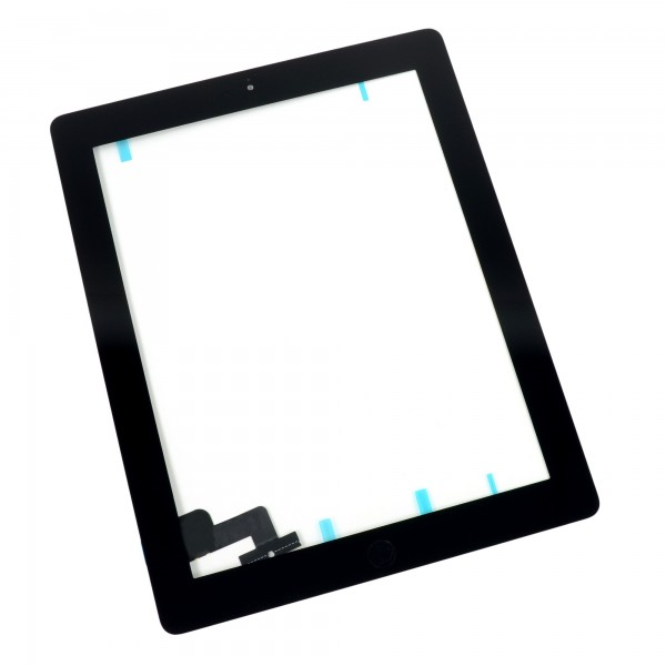 iPad 2 Front Glass/Digitizer Touch Panel Full Assembly, Part Only, New - Black, IF112-002-1