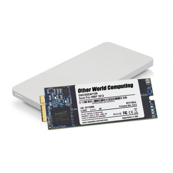 500GB OWC Aura Pro 6G SSD + Envoy Pro Upgrade Kit for 2012-13 MacBook Pro with Retina display, OWCS3DAP12K500