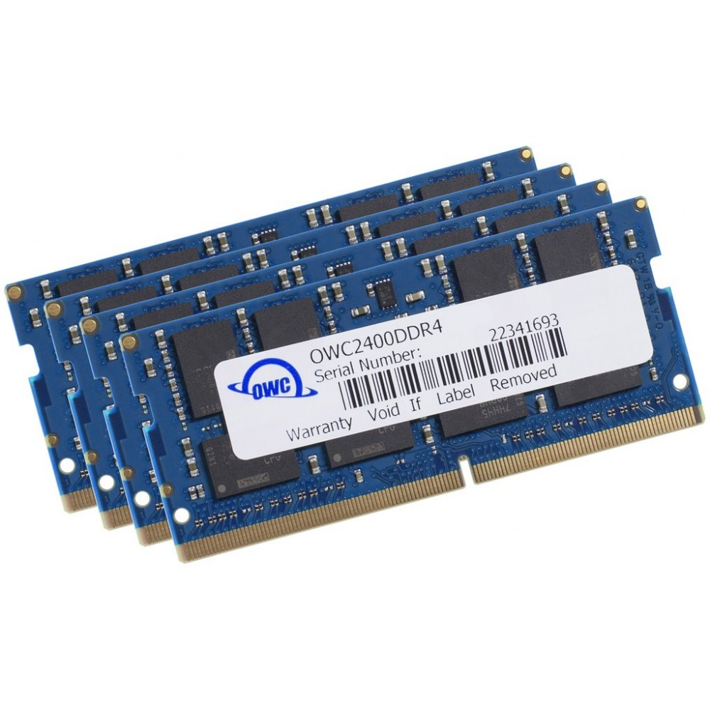 64.0GB (4 x 16GB) 2400MHz DDR4 SO-DIMM PC4-19200 260 Pin CL17 RAM Memory Upgrade, OWC2400DDR4S64S