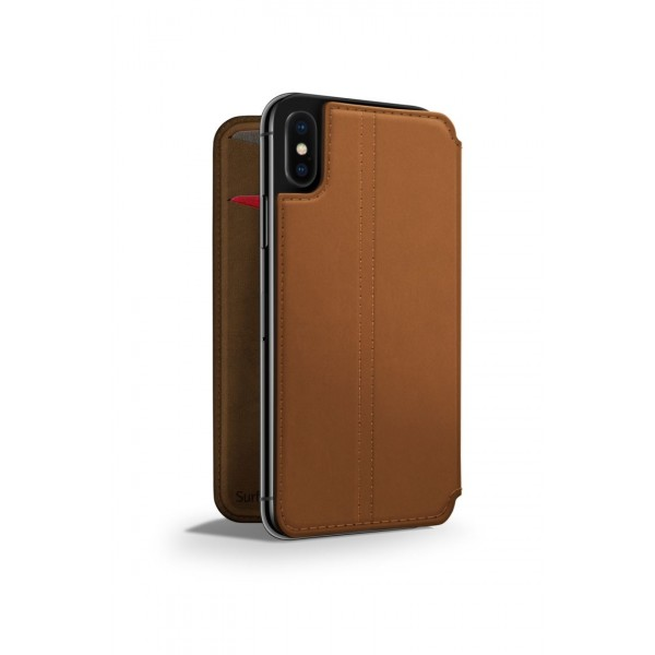 Twelve South SurfacePad for iPhone X - Cognac, 12-1752