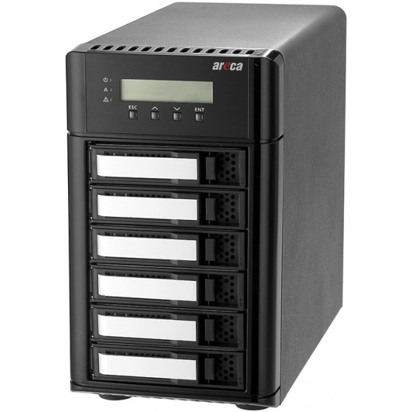 Areca ARC-8050T3 6-Bay Thunderbolt 3 RAID Storage Enclosure, AREARC8050T36