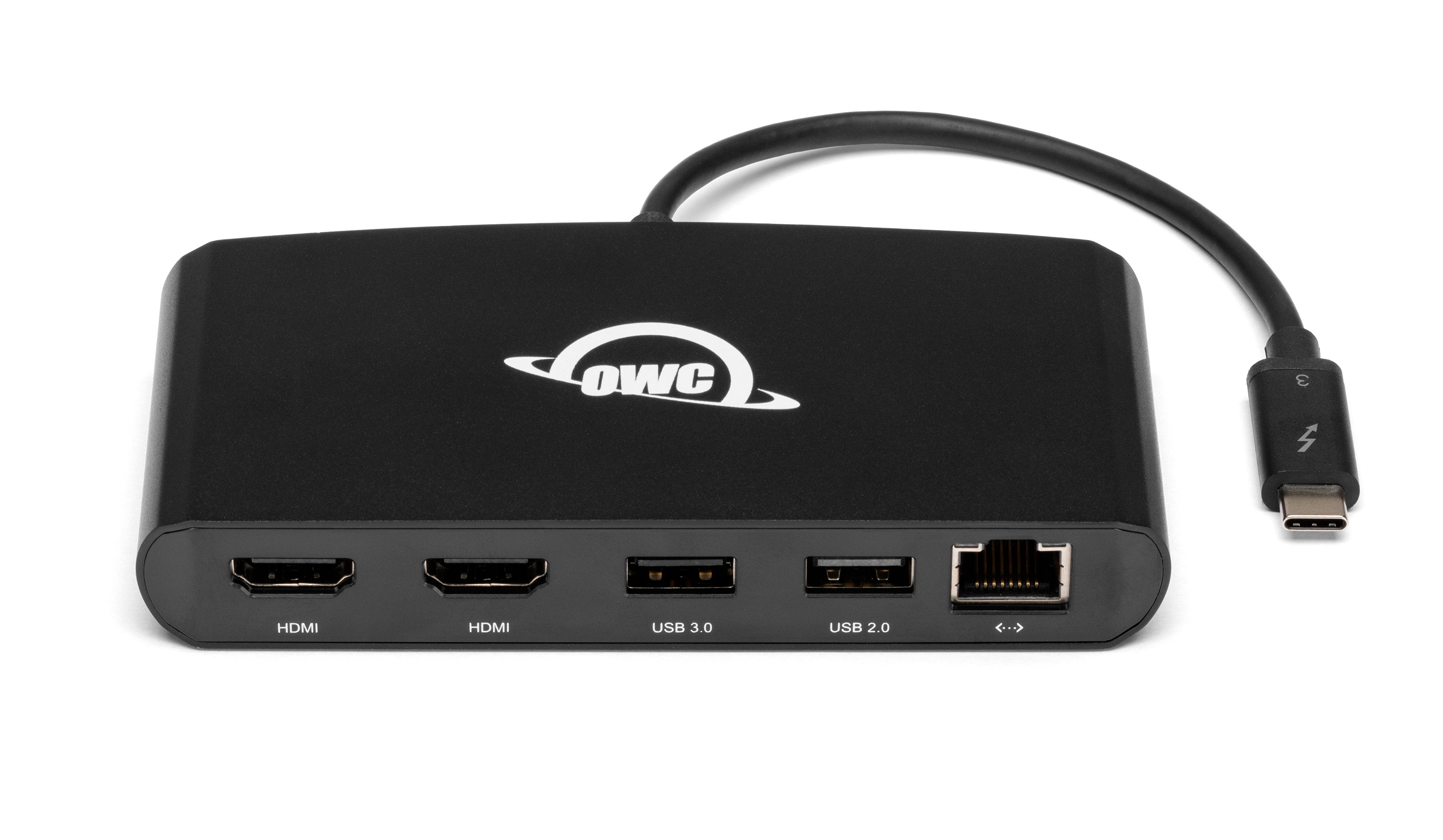 OWC 5-Port Thunderbolt 3 mini Dock - 2 x HDMI, 1 x USB 3, 1 x USB 2, Ethernet 1000BT *Bus-Powered*, OWCTB3MDK5P