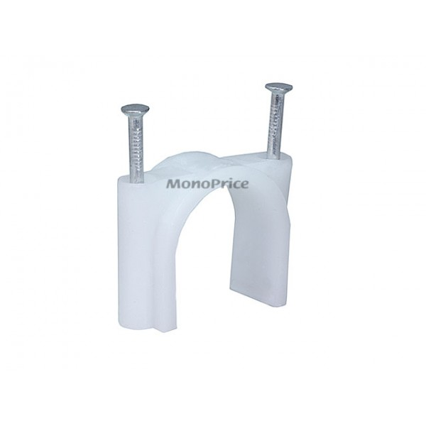 Circle Cable Clips With Steel Nail, 30mm, 50pcs/Pack, CLIPS-5836