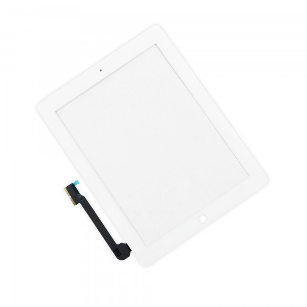 iPad 3/4 Front Glass/Digitizer Touch Panel, Part Only Without Adhesive Strips - White, IF116-000-2