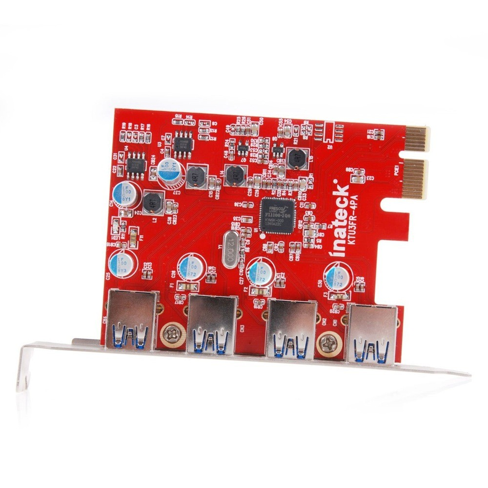 Inateck 4 Ports PCI-E to USB 3.0 Expansion Card for Mac Pro, KT4004