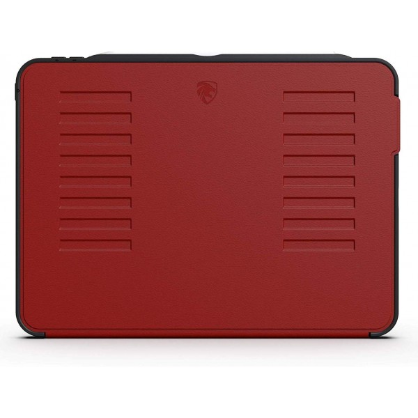 ZUGU CASE The Muse Case for 2018 iPad Pro 11 inch - Very Protective But Thin, Convenient Magnetic Stand, Sleep/Wake Cover - Red, ZG-M-1118R