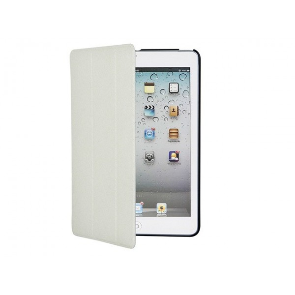 Iridescent Stand/Cover with Magnetic Latch for iPad mini 1 - Ivory, IPM1-10303