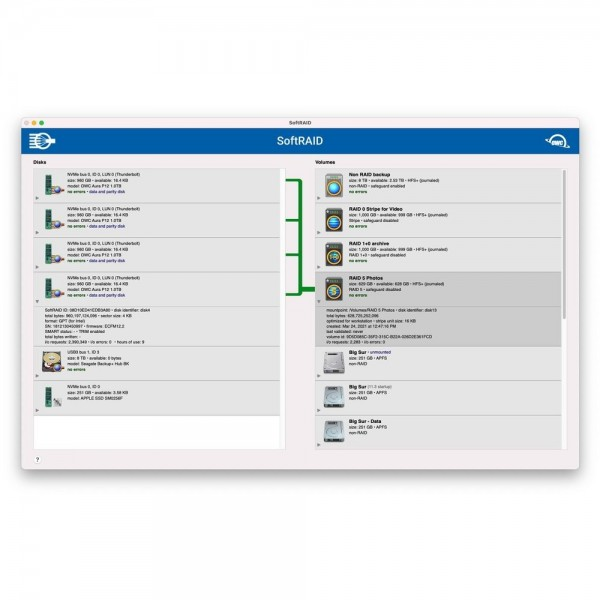 SoftRAID Pro for All Multi-Bay Storage Solutions (Mac and Windows), OWCSFR6P