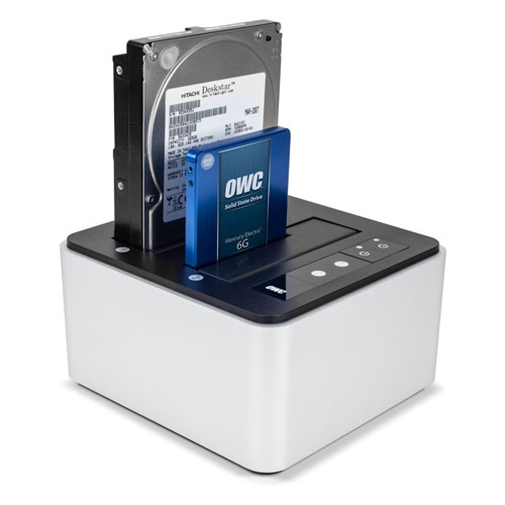 "OWC Drive Dock Dual Drive Bay Solution Mac / PC / Thunderbolt / USB 3.0 For Bare 2.5"" and 3.5"" SATA Drives, OWCTB2U3DKR2"