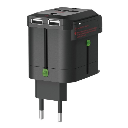 Elago Tripshell World Travel Adapter with Built in Dual USB Ports