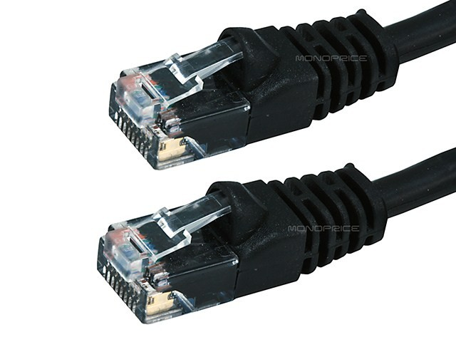 0.9m 24AWG Cat6 550MHz UTP Ethernet Bare Copper Network Cable - Black, ETH-2295