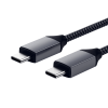 Satechi USB-C to USB-C 100W Braided Charging Cable, 2m - Grey, ST-TCC2M