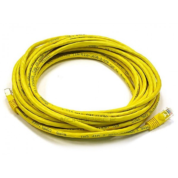 7.6m 24AWG Cat6 550MHz UTP Ethernet Bare Copper Network Cable - Yellow, ETH-2319