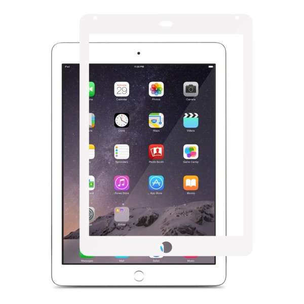 Moshi iVisor XT Crystal Clear Protector / Protective Film for iPad Air/Air 2 - White, IPD6-XT-WHT